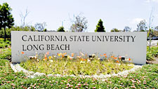 Picture of gate sign from California State University, Long Beach