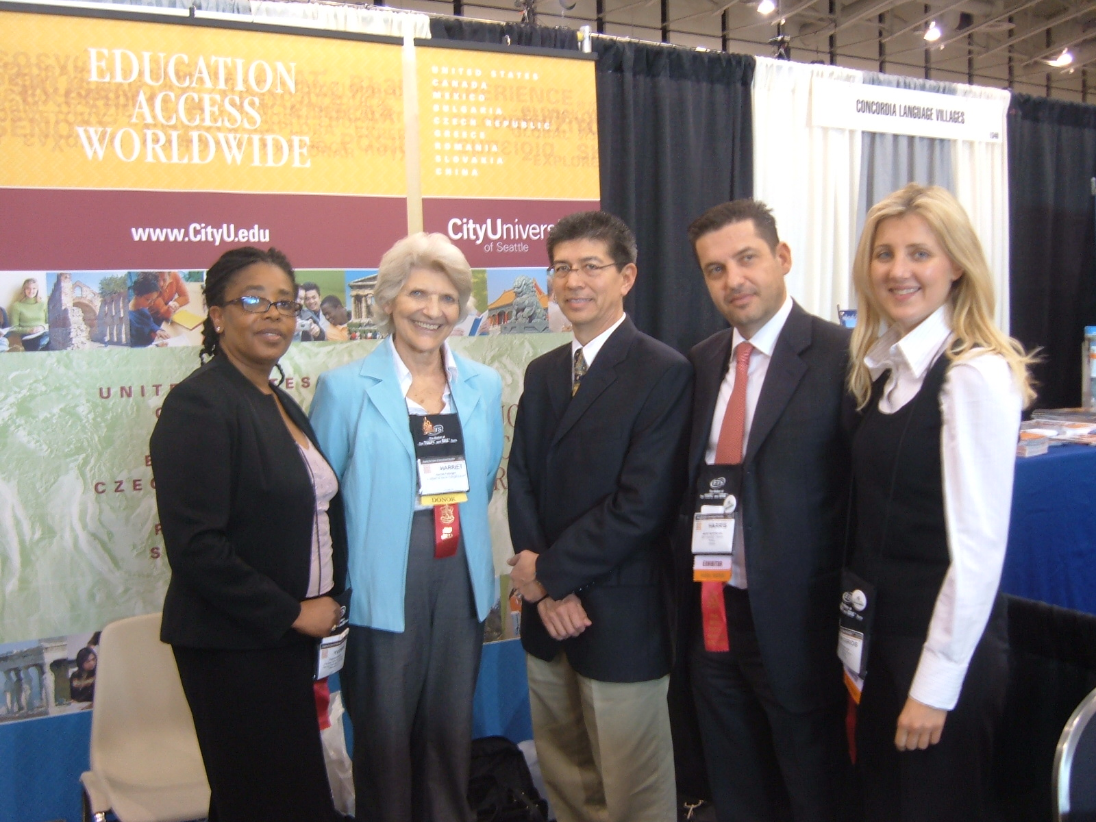 Dr. Y. Captain, Mrs. Fulbright, Dr. F. L. Garcia & Members of City University of Seatle
